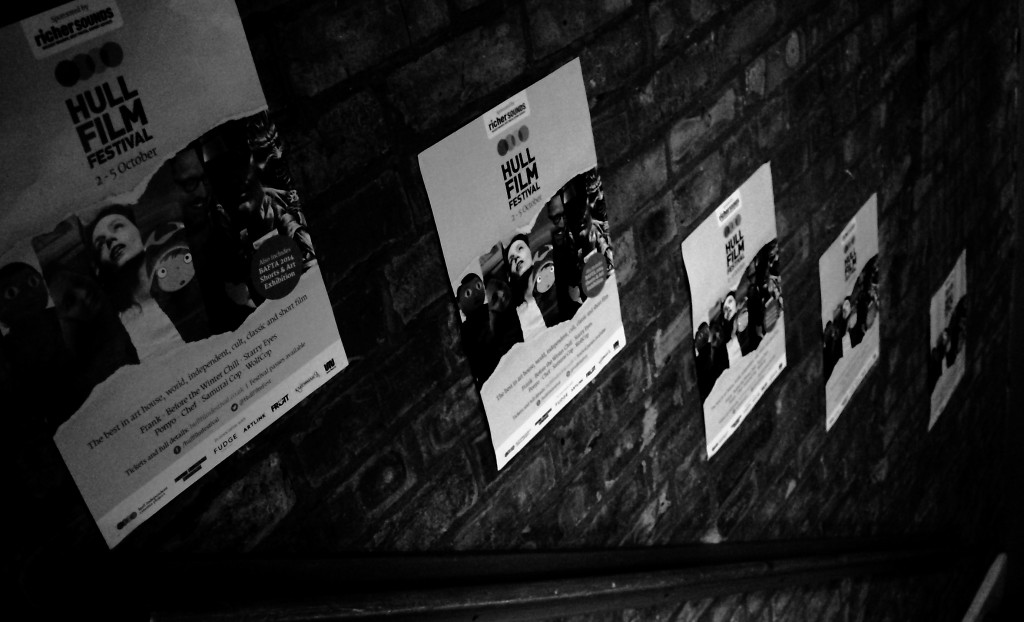 Hull Film Festival posters adorn the wall at Union Mash-up on Day 3
